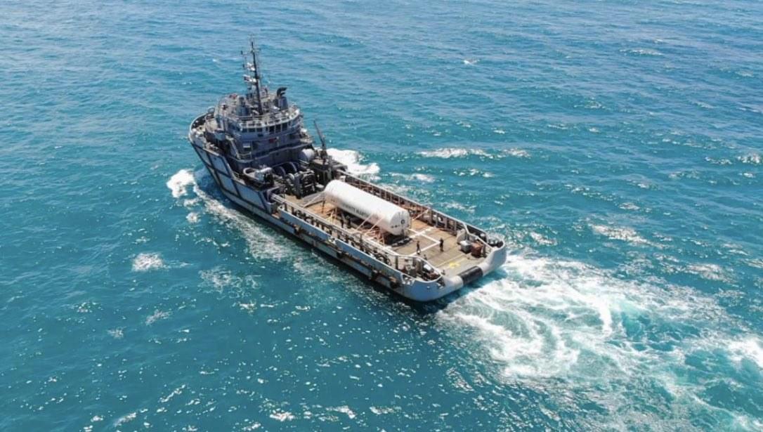Navio da Marinha com 90 mil m³ de oxigênio chega a Belém para auxiliar pacientes com Covid-19