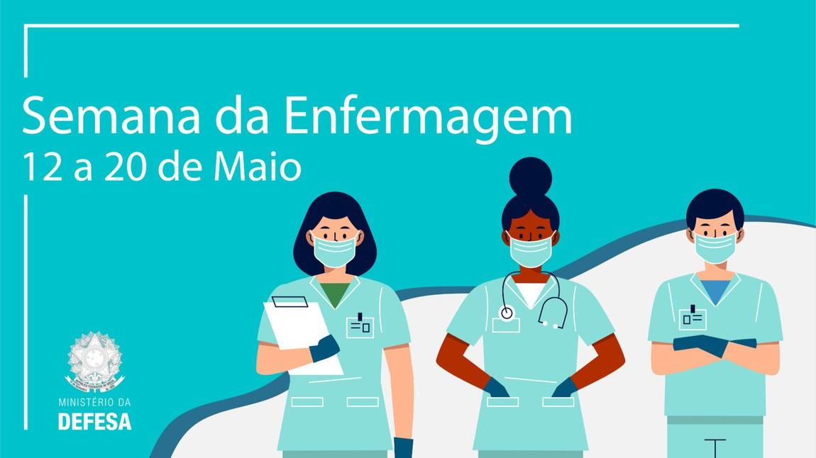 Profissionais de enfermagem estão na linha de frente no combate à pandemia