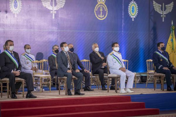 Cerimônia de aniversário de 22 anos do Ministério da Defesa é realizada em Brasília (DF)
