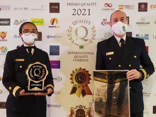 """Base de Hidrografia da Marinha em Niterói recebe os prêmios """"Qualidade Águia Americana"""" e """"Quality Awards 2021"""""""