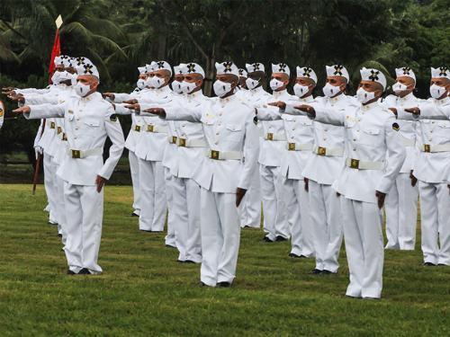 CIAMPA realiza Cerimônia de Juramento à Bandeira do Curso de Formação de Soldados Fuzileiros Navais