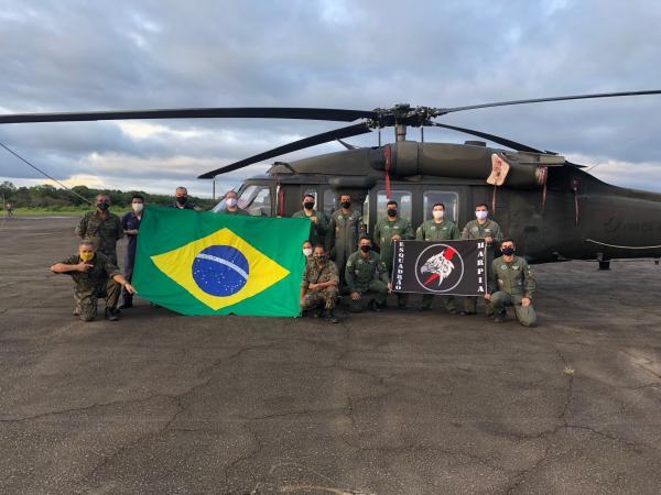 Esquadrão Harpia participa de Operação para combate a COVID-19 na Amazônia