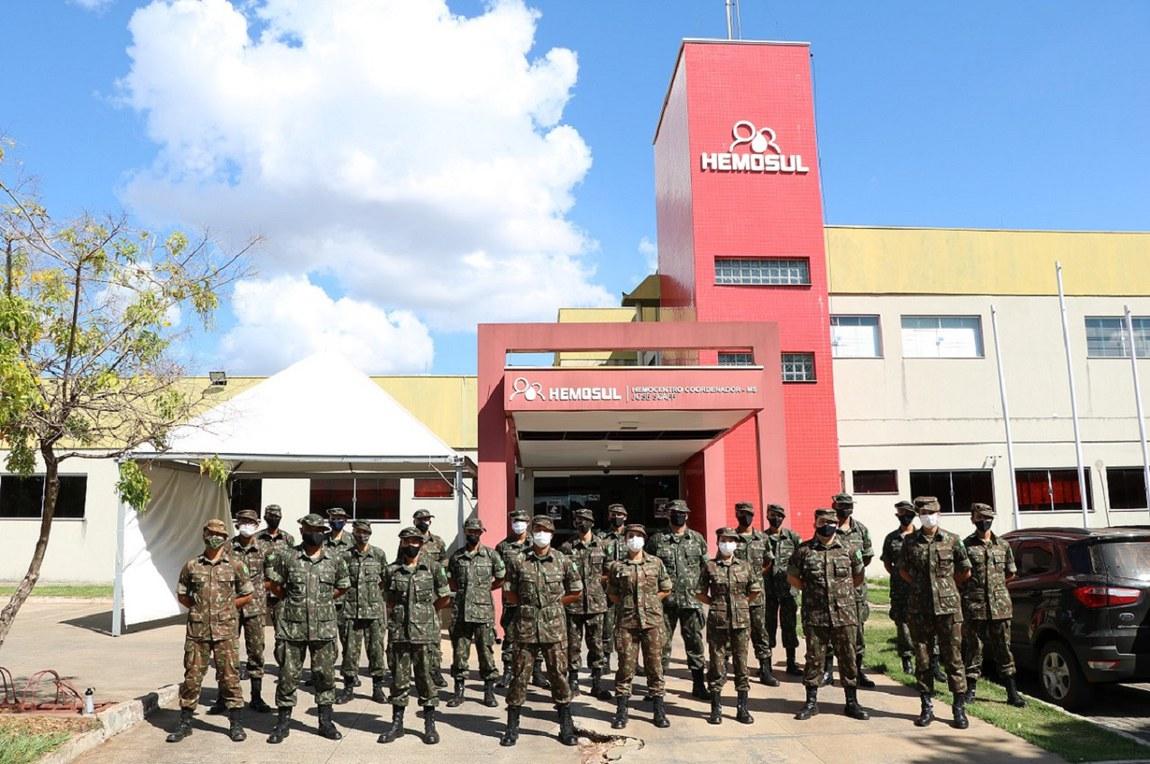 Mais de 130 militares de Grupamento Logístico doam sangue em adesão à campanha do Exército Brasileiro