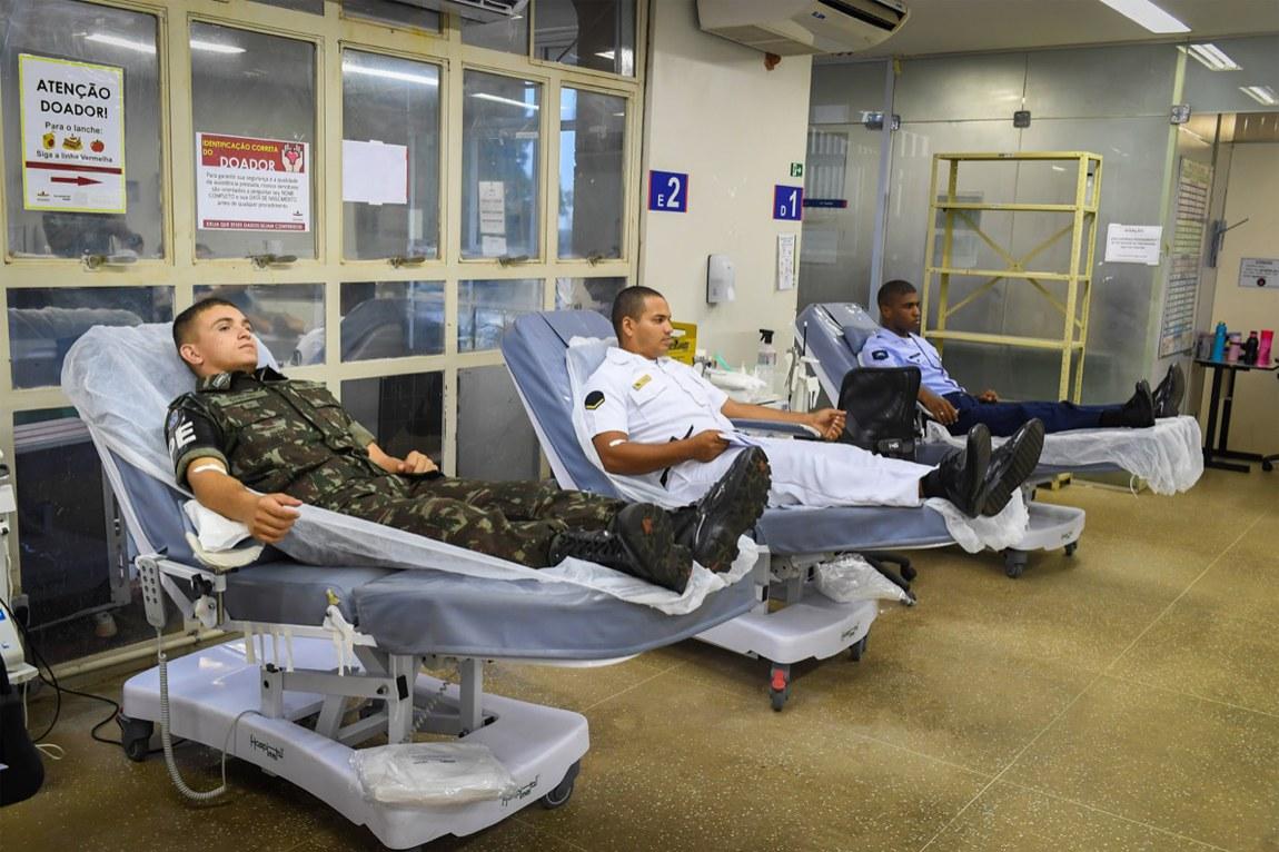 Militares fazem mais de 43 mil doações de sangue para reforçar estoques dos hemocentros