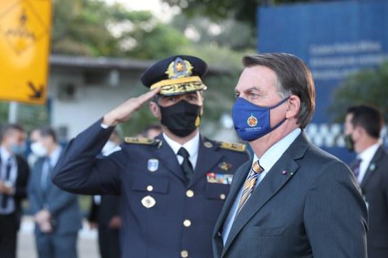 Presidente Jair Bolsonaro participa de formatura de curso de oficiais da PMDF