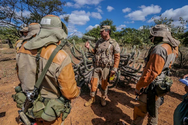 Batalhão realiza estágio de caatinga para tropa da Força Aérea Brasileira