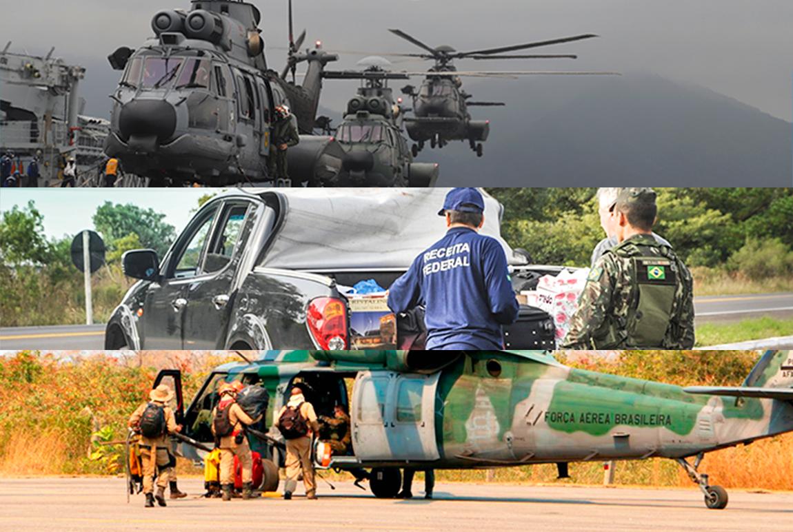Forças integradas em apoio à população e ao Brasil