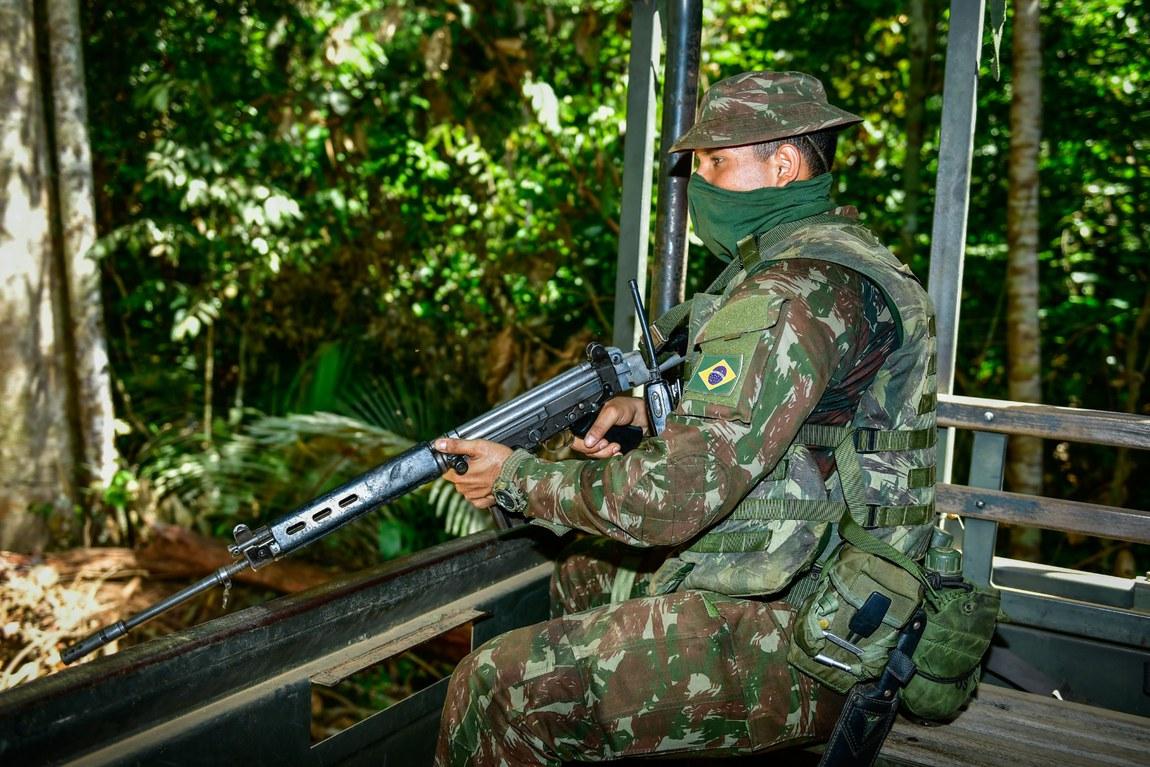 Forças Armadas apreendem o equivalente a 60 caminhões de madeira em Rondônia pela Operação Samaúma