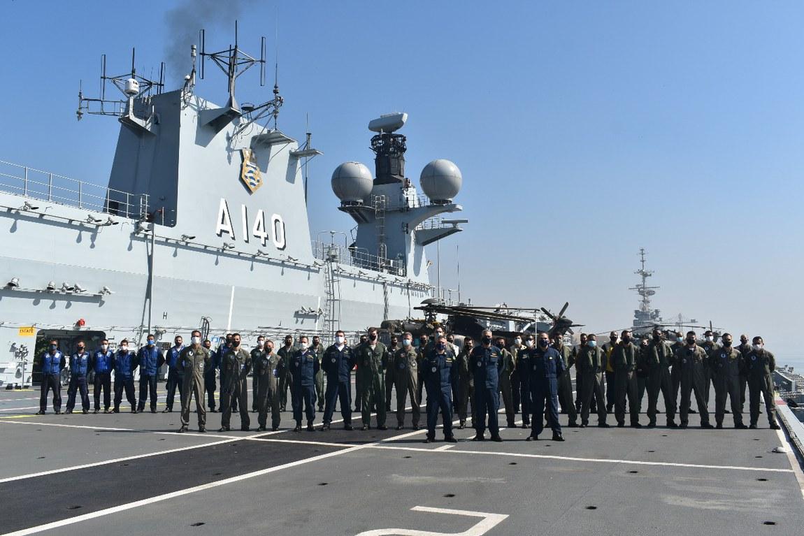 Fase preparatória para o mar do Intercâmbio Operacional das Aeronaves H225m