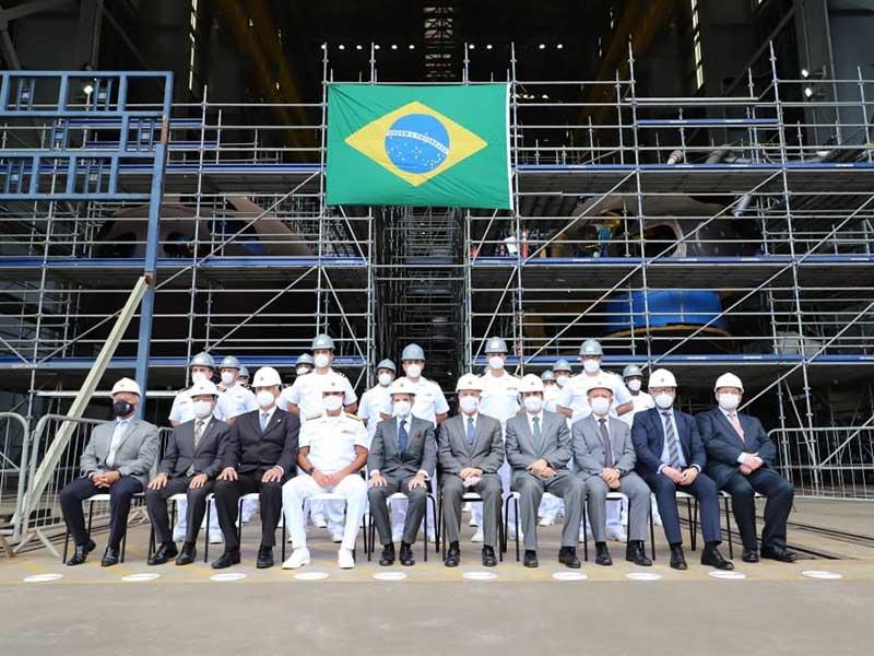 Diretor-Geral da Agência Internacional de Energia Atômica visita instalações do Programa de Submarinos