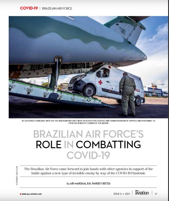 Revista indiana destaca atuação da Força Aérea Brasileira no enfrentamento ao novo coronavírus