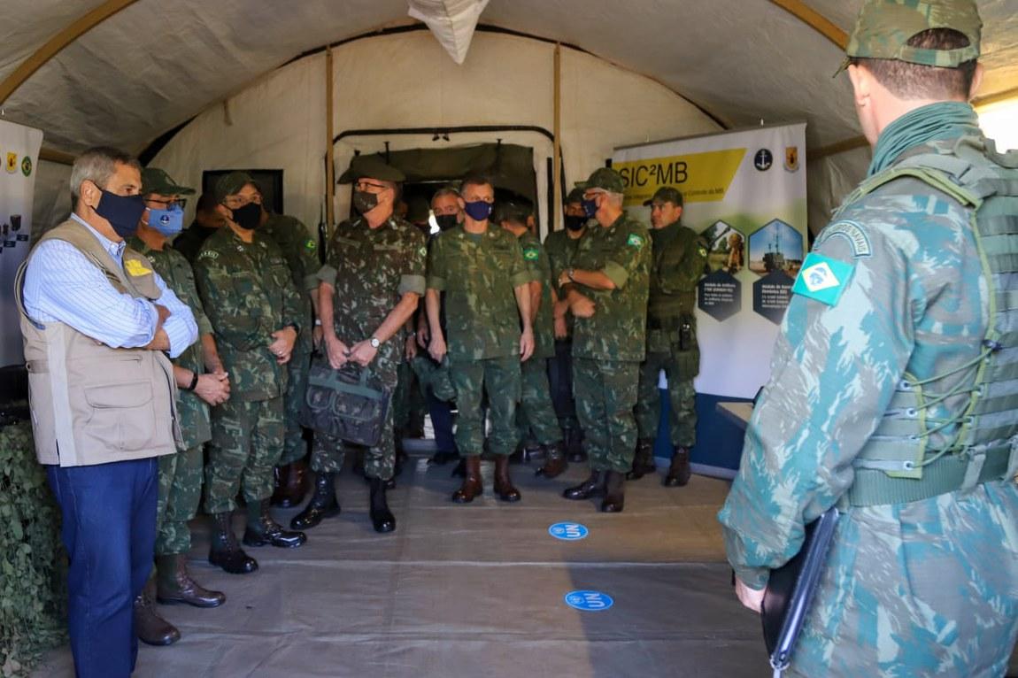 Tropas da Marinha são inspecionadas pela ONU para futuro emprego em missões de paz