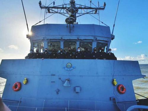 Marinha e Polícia Federal realizam operação na fronteira do Brasil com a Guiana Francesa