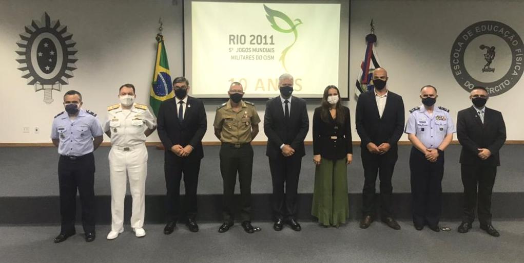 Cerimônia celebra 10 anos dos 5º Jogos Mundiais Militares