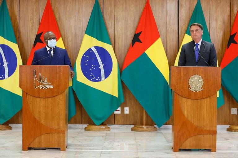 Presidentes do Brasil e Guiné-Bissau se reúnem em Brasília