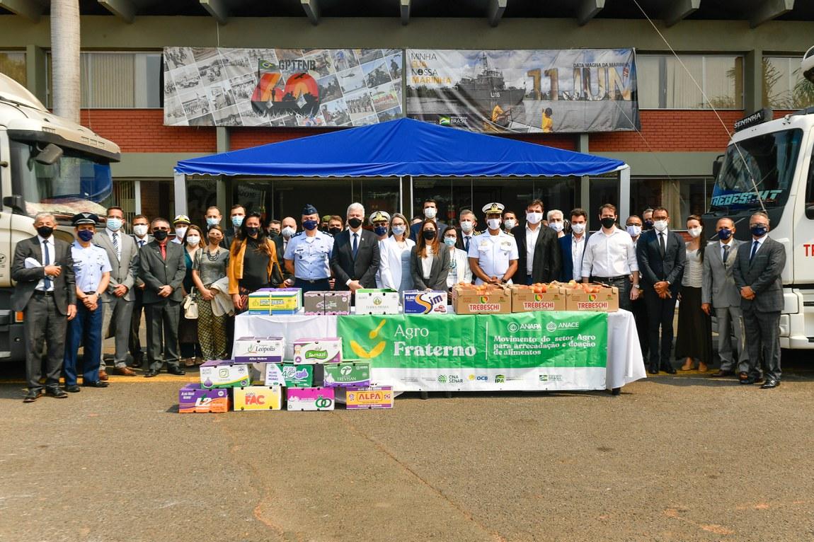 Comitiva interministerial visita núcleos do PROFESP e PJP e acompanha doação de alimentos