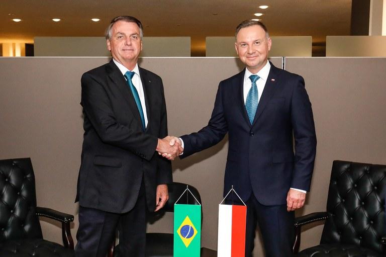 Presidente Jair Bolsonaro se encontra com o Presidente da Polônia