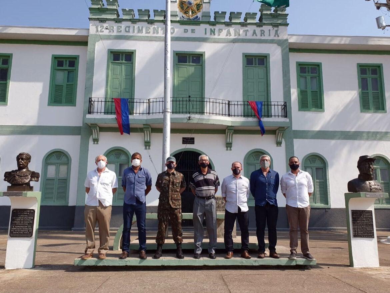 Visita de Eternos Comandantes do Batalhão Lomas Valentinas