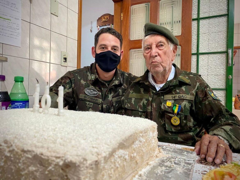 Grupo Fernão Dias presta homenagem aos 101 Anos de Ex-combatente